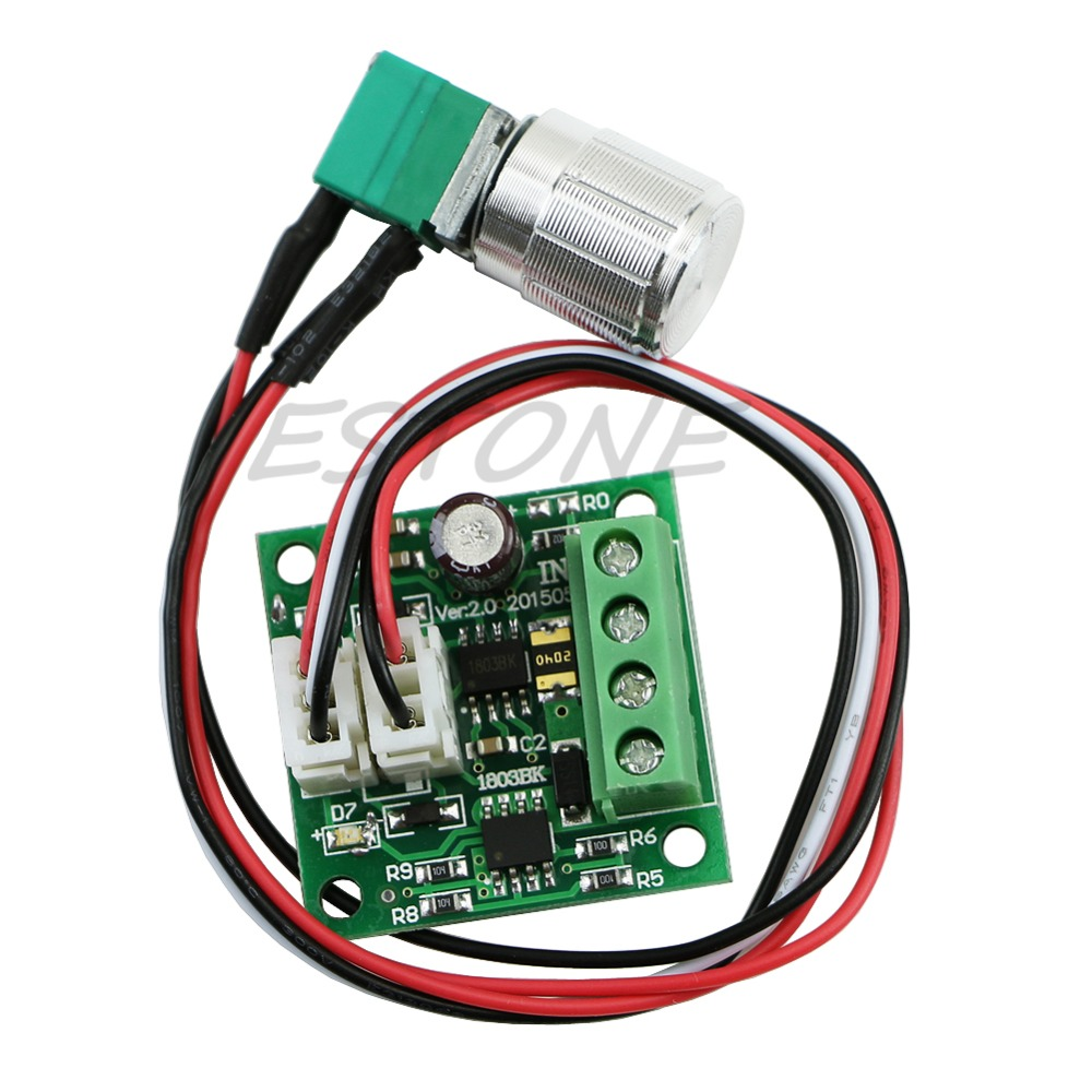 1 8v 5v 6v 12v 24v Dc 2a Motor Speed Controller Switch
