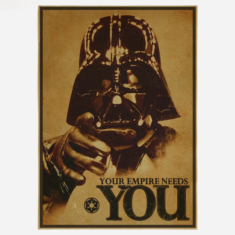 And Great Variety Of Designs And Colors Responsible Classic Movie Vintage Star Wars Darth Vader Poster Retro Kraft Paper Bar Home Decor Painting 42x30cm Wall Sticker Famous For High Quality Raw Materials Full Range Of Specifications And Sizes