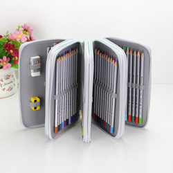 36/48/72 Holes Pencil Case for Drawing Painting Art Marker Pens Multifunction Large Capacity School Stationery Bag Pouch Supply