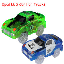 2pcs/set DIY Race Car for Race Track Flexible Slot Racing Series Roller Coaster Rail Railroad Educational Speedway Mini 4 Toy