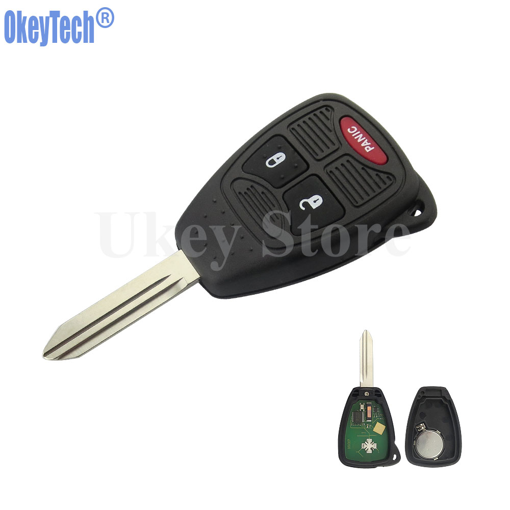 OkeyTech 315Mhz ID46 Chip 2+1 3 Buttons Car Replacement Remote Key Uncut Blade Fob For Chrysler Dodge Jeep Smart Key боди и песочники kiddy bird боди короткий рукав винтаж 2 шт