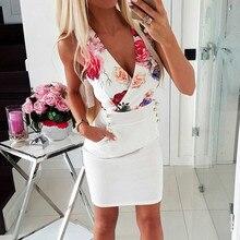 75363fa4eff483 2019 sommer frauen Kleid Drucken Damen Vestidos Sommer Kleider Weibliche  Sexy robe(China)