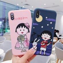 Cute cartoon Chi-bi Maruko Colored Drawing Soft TPU Case For iPhone XS XR MAX X 6 6S 7 8 Plus