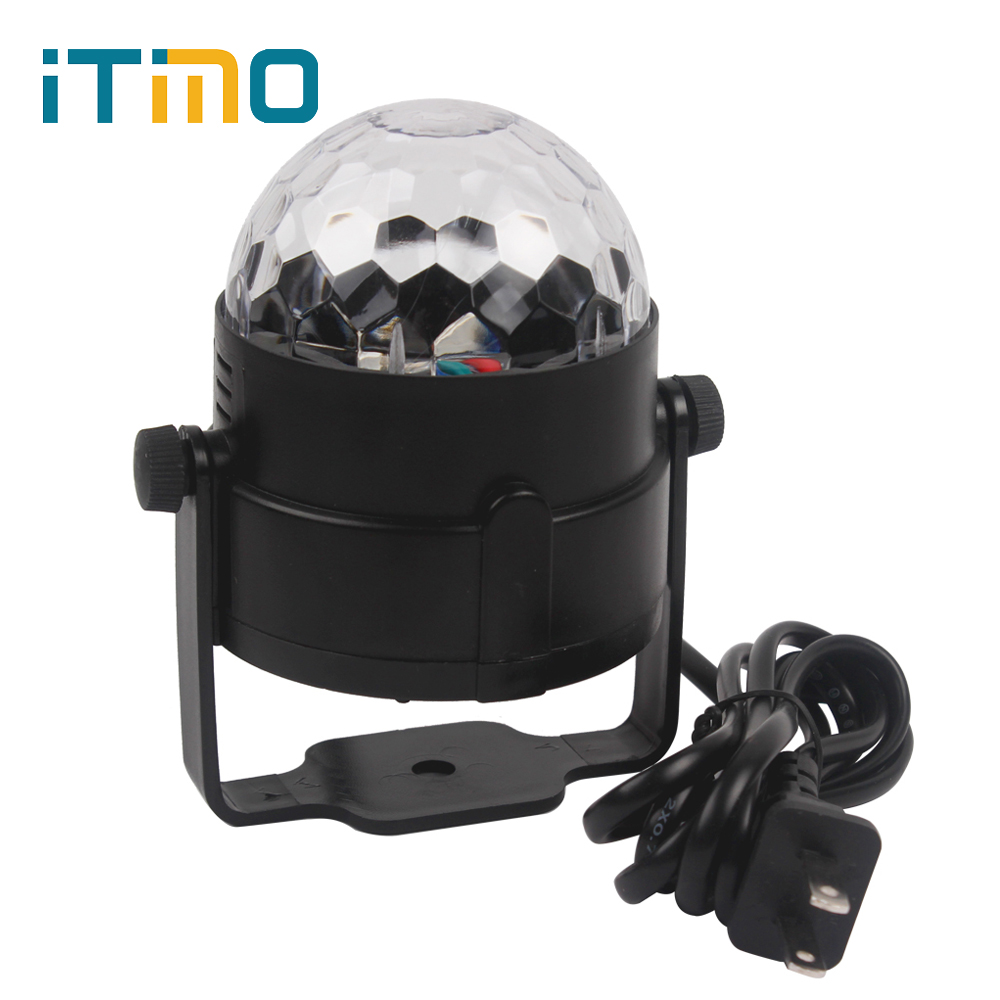 LED Crystal Magic Ball Light for Party Disco DJ Bar Lighting Show US EU Plug Stage Lighting Effect RGB Atmosphere Lamp LED Bulb dmx512 127 led rgb effect light stage light for disco dj party show black eu plug ac 90 240v