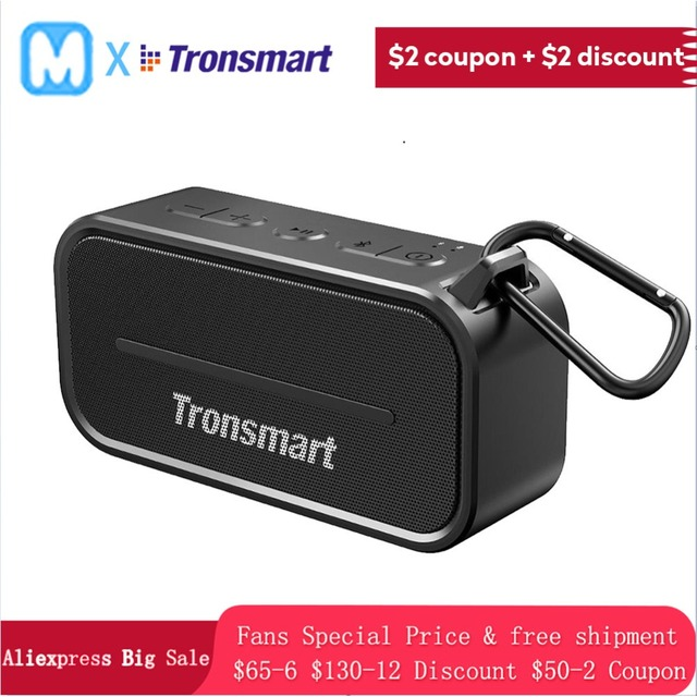 Tronsmart T2 wireless Bluetooth Portable speaker 24h Playtime with Mic  Waterproof IPX5 Outdoor Speaker
