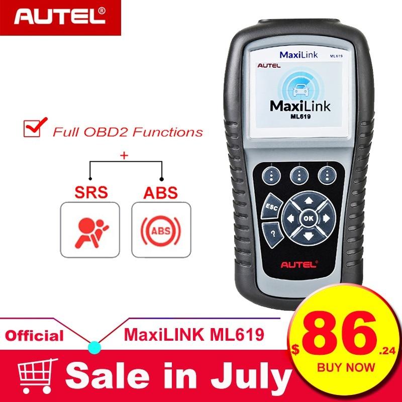 MaxiLink 2 ML619 OBD OBDII Car Diagnostic Code Reader Autel ABS Airbag SRS Scan Tools OBD2 Scanner Automotivo como Autolink AL619