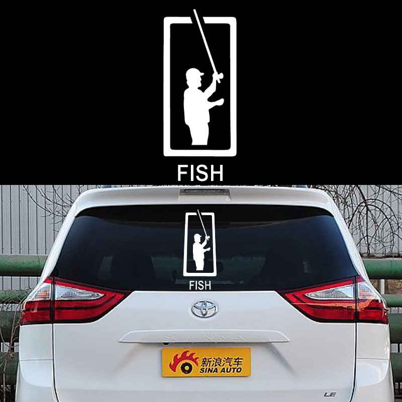 58cm x 24.94cm 2 x  Fishing Fish Graphical (one For Each Side)Car Sticker For Cars Side, Truck Window Door  Vinyl Decal 8 Colors 58cm x 58cm 2 x anime video gurren lagann one for each side car sticker for cars side truck window door vinyl decal 8 colors