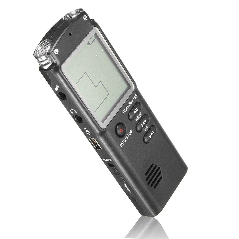 Zielstrebig Mini T60 Professionelle Sprachaufnahme Gerät Zeit Display Großen Bildschirm Digital Voice Audio Digital-audiosprachaufzeichnungsanlage-diktaphon-mp3-player Tragbares Audio & Video Digital Voice Recorder