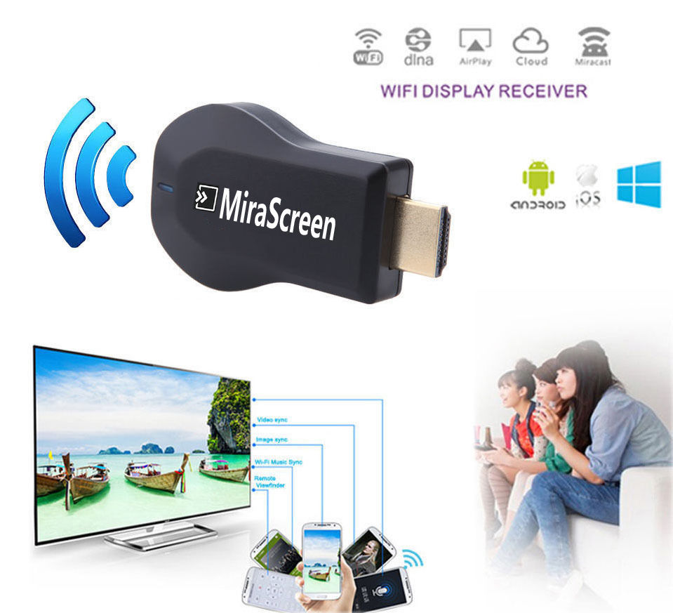 HDMI Wireless Wifi Dongle Phone to TV Video <font><b>Adapter</b></font> For <font><b>iPhone</b></font> XS MAX XR 5S 6 <font><b>7</b></font> 8 PLUS X Xiaomi Samsung note10+ Huawei Android image