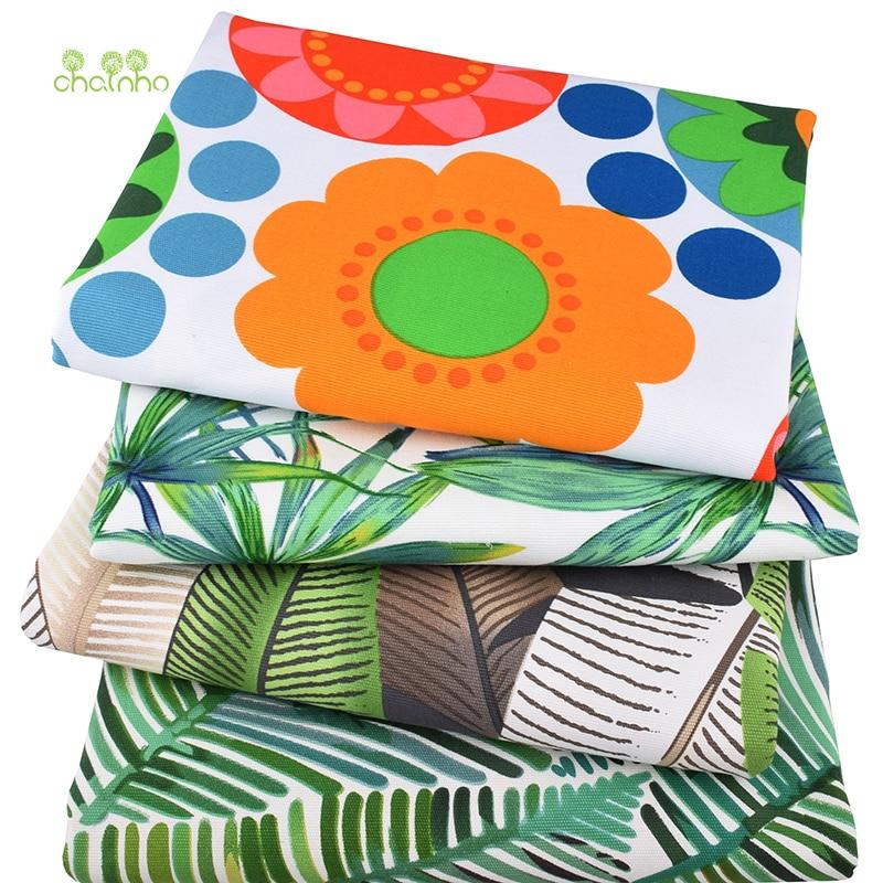 Chainho, Листья узоры серии, хлопок холст ткань, ручная работа швейная ткань для дивана кайма для штор материал для художественного оформления дома, 50*150