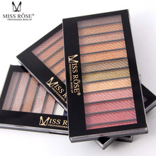 2017 MISS ROSE 12 Colors South America Eye Shadow Like The Flowder And The Butterfly Flying Earth Color Smoked Eye Shadow