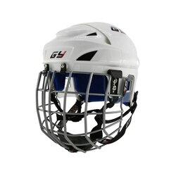 Новая защитная Улучшенная клетка sytle, синяя мягкая внутренняя, высокое качество, защита для лица, хоккейный шлем, защита головы