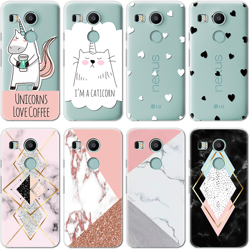 TPU Cover For LG V20 V30 G3 G4 G5 G6 G7 K4 K5 K8 K10 2017 2018 K11 Plus Nexus 5X X Power 2 Marble Capa For LG Q6 Q7 Unicorn Case
