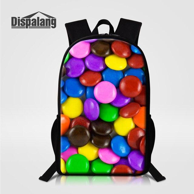 Dispalang Girl Cute Lightweight Bookbags 3D Printing Candy Middle High School  Bags For Teenage Girls Women s 4dcd92867e211