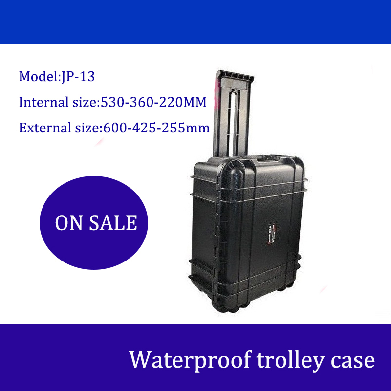 Tool Case Toolbox Trolley Impact Resistant Sealed Waterproof Safety Case Spare Parts Kit Camera Case With Foam Shipping Case
