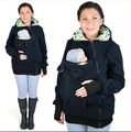 Baby Wearing Fleece Jacket Winter Maternity Warm Outerwear Womens Pregnant Kangaroo Coat Baby Carrier Wear