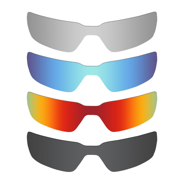 2c36d3b8c69c0 4 Pieces MRY POLARIZED Replacement Lenses for Oakley Probation Sunglasses  Stealth Black   Ice Blue   Fire Red   Silver Titanium