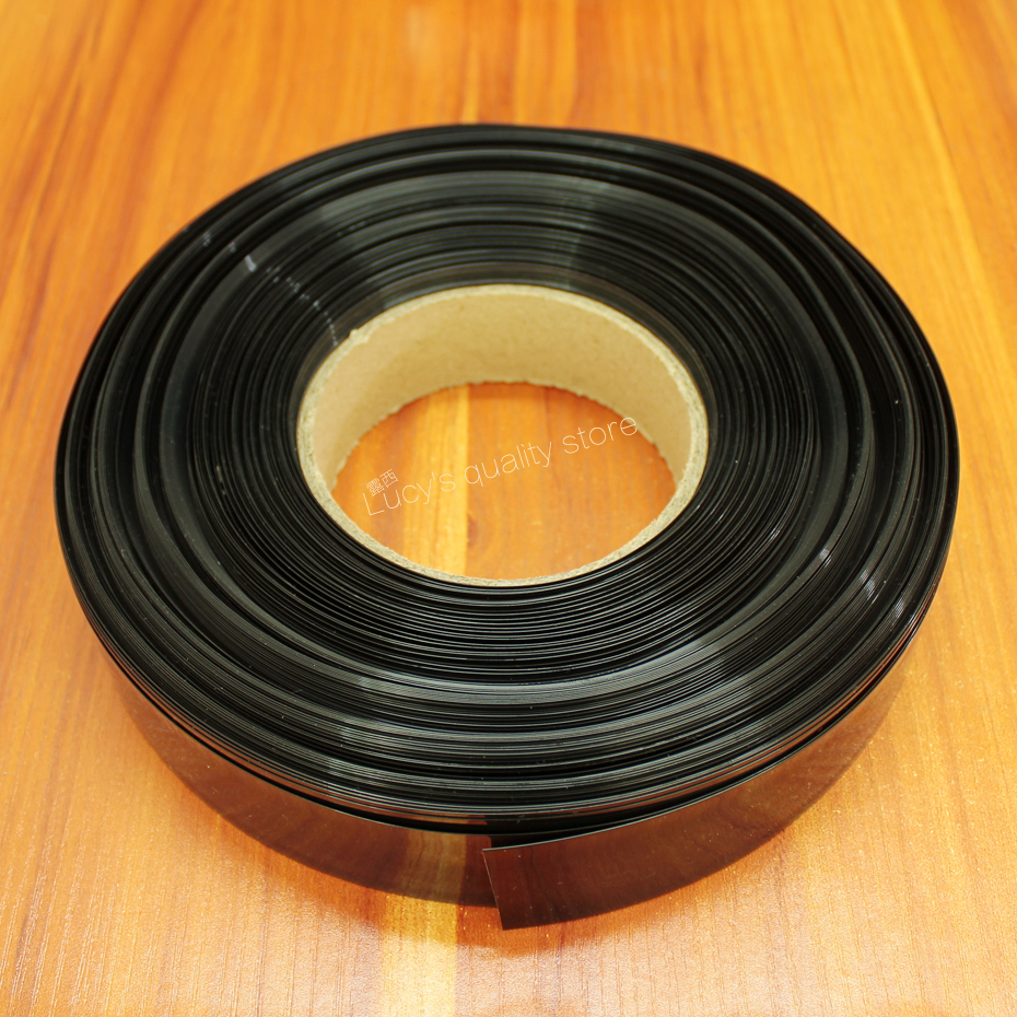 10m lot black 18650 Pvc Thermal Shrinkable Film For Sleeve Polymer Battery Of Various Lithium Batteries in Replacement Parts Accessories from Consumer Electronics