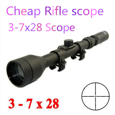 3-7 X 20mm Telescopic Scope For Air Rifles Gun Cross hair Scopes