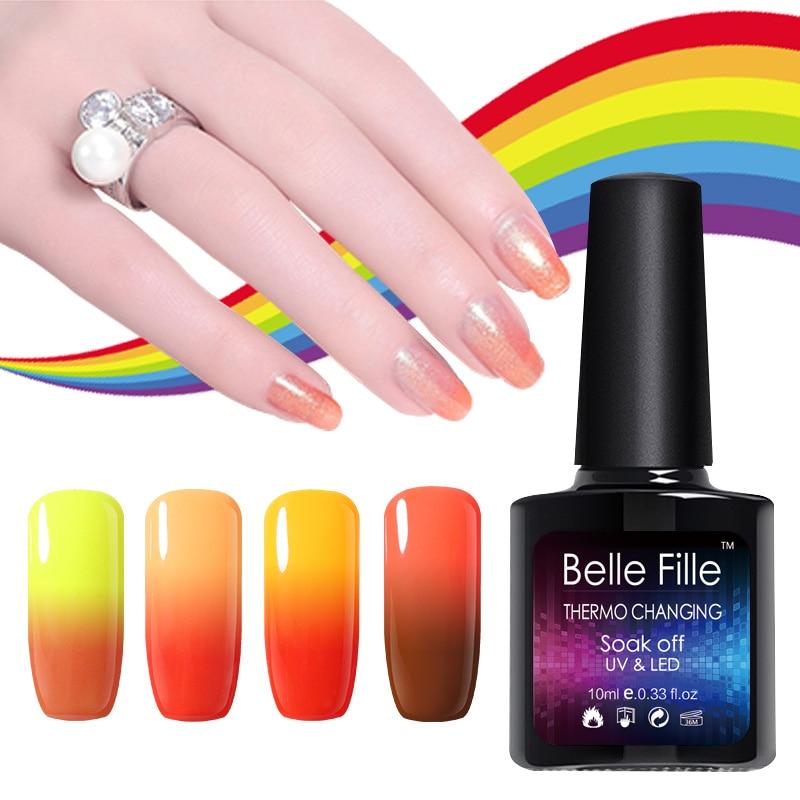 Belle Fille Gel UV que cambia la temperatura de Bling Shining Nail - Arte de uñas