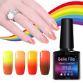 Belle Fille UV Gel Temperature Changing Bling Shining Nail Gel Soak Off Gel Polish UV LED Lamp Gel Nail Polish Manicure Coat