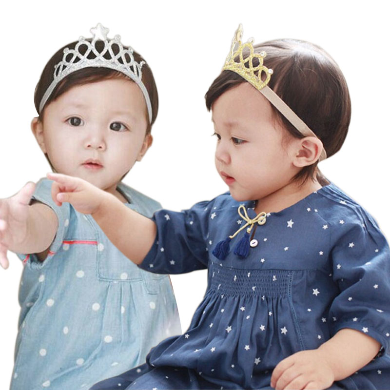 M MISM Unisex Kids Lovely Tiaras Headband Perfect Quality Glittering Hair Accessories for Child Crown Hair Band Solid Ornaments love crown solid hair accessories for women headband elastic bands for hair for girls hair band hair ornaments for kids