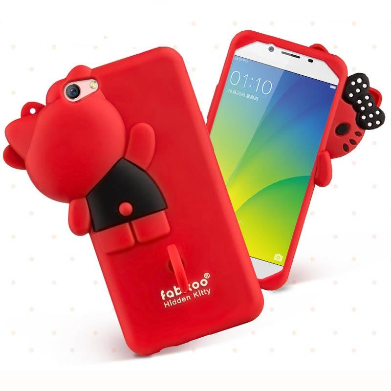 on sale c5c70 93b8b For Oppo F3 Plus 3D Cute Cartoon Fabitoo Hello Kitty bowknot Phone ...