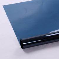 HOHOFILM 1.52x30m ROLL Dark Blue Window Film House Glass Solar Tint Window Sticker Glass Film Home Decor Decorate 60''x100ft