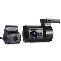 Мини 0906 Двойной объектив NT96663 Видеорегистраторы для автомобилей Камера 1080 P FHD регистраторы 135 градуса FOV gps навигации с удаленным Управление