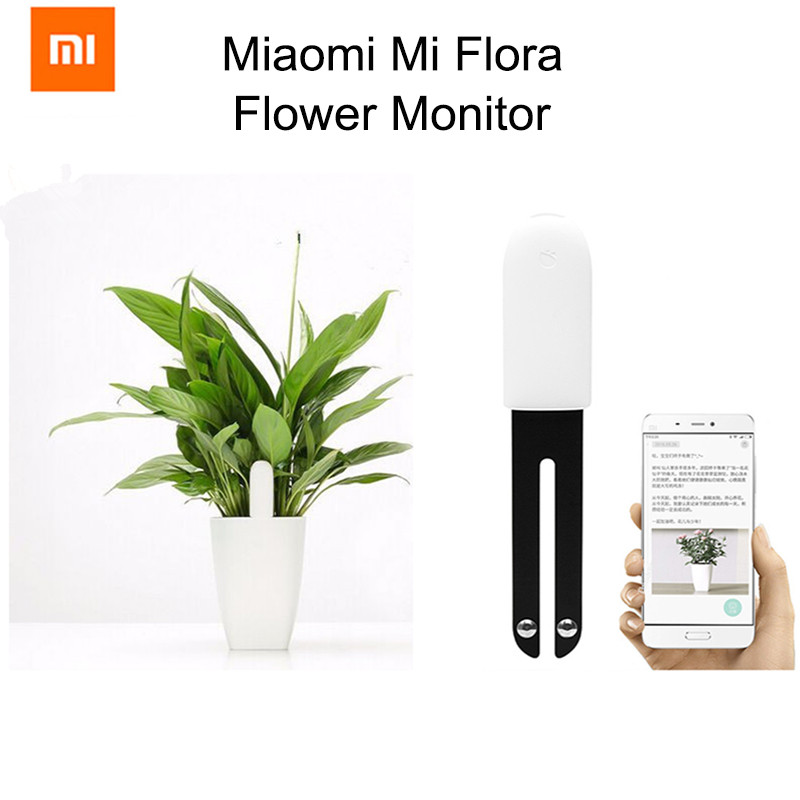 все цены на Xiaomi Mi Flora Monitor International Version Digital Plants Grass Flower Care Soil Water Light Smart Tester Sensor wholesale