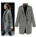 Ms. autumn and winter 2016 original plaid windbreaker jacket coat big yards long section Womens Coats Winter