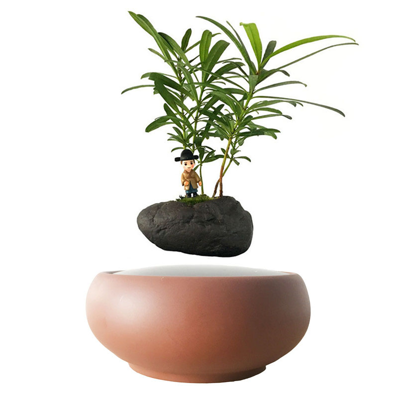 2018 Japan Magnetic Levitation Floating Plants Ceramics Pots Bonsai Pot Birthday Gifts For Men Free Shipping No Plant In Flower Planters From Home