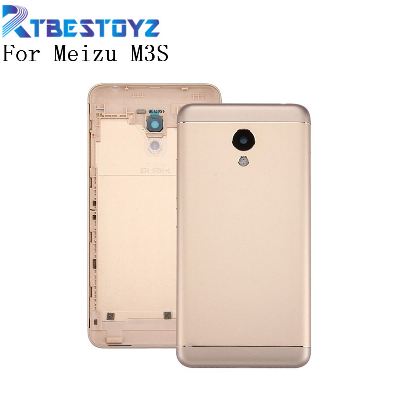 RTBESTOYZ Battery Cover For <font><b>Meizu</b></font> <font><b>M3S</b></font> Back Housing Case Replacement Parts With Side Buttons & <font><b>Camera</b></font> Lens image
