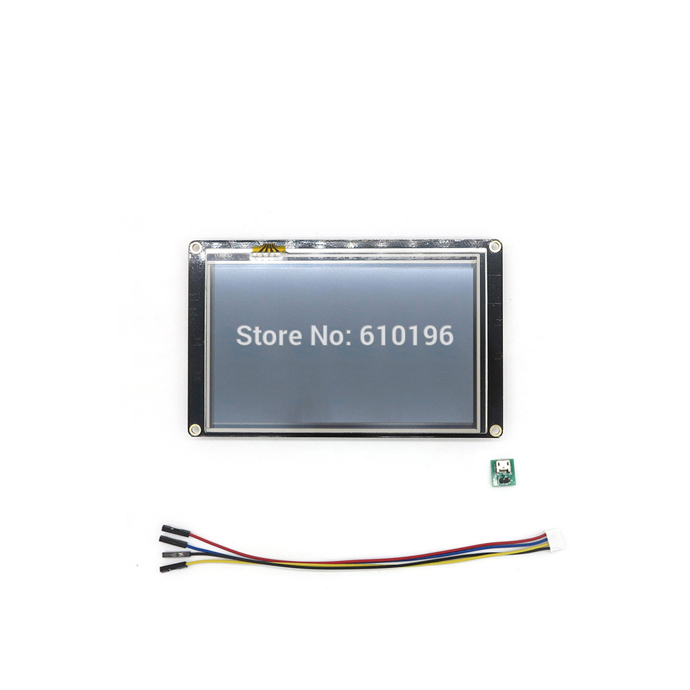 Nextion Enhanced 5.0'' HMI Intelligent Smart USART UART Serial Touch TFT LCD Module Display Panel For Arduino Raspberry Pi