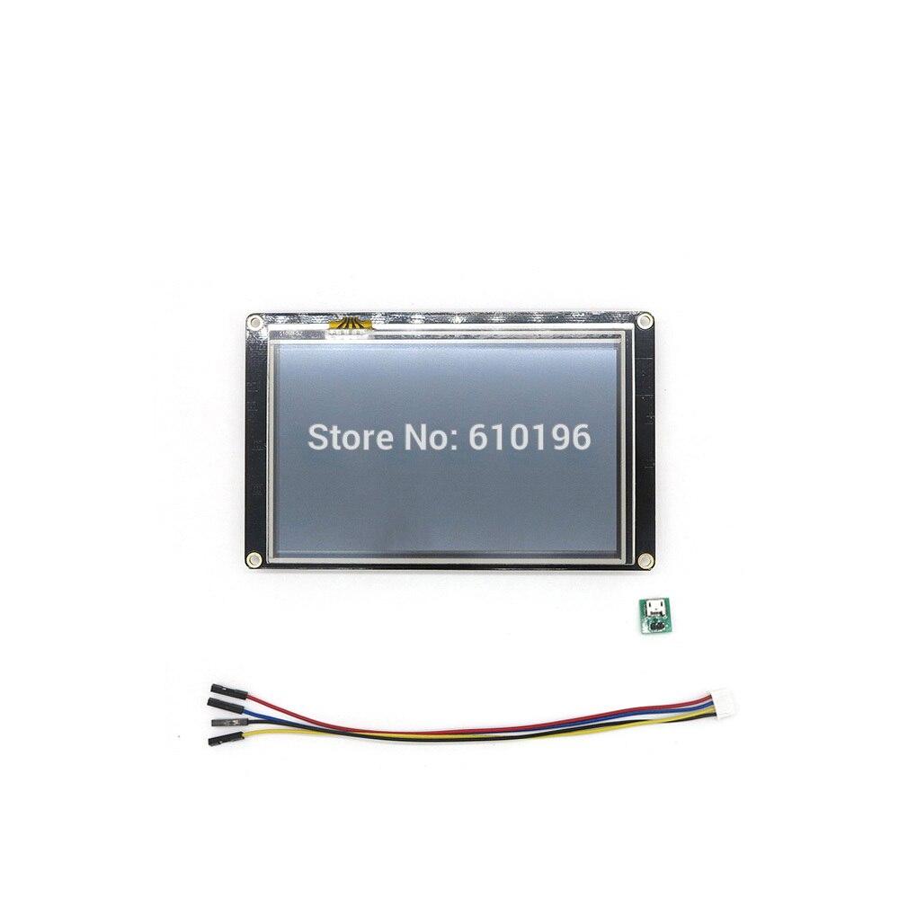 Nextion amélioré 5.0 ''HMI Intelligent Intelligent USART UART série tactile TFT LCD Module panneau d'affichage pour Arduino Raspberry Pi