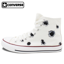 Bullet Hole Original Design Converse Chuck Taylor Women Men Sneakers Hand Painted Custom High Top Canvas Shoes Man Woman Gifts