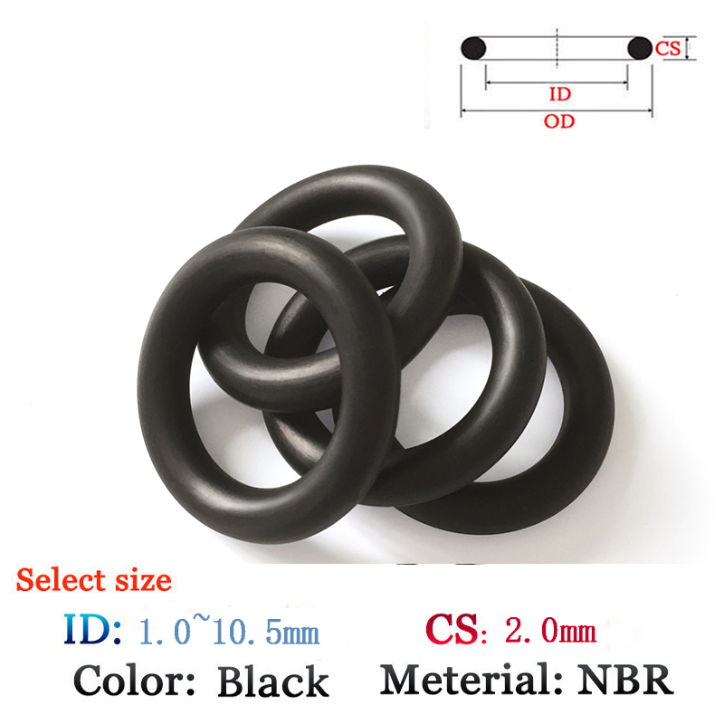 NBR Gasket CS 2.0mm ID1.0-10.5mm Rubber Plastic O-Ring for oil and waterproof seal film Viton gasket Silicone Ring Seal купить недорого в Москве