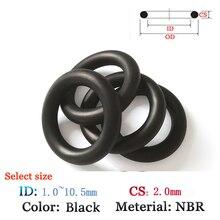 Прокладки NBR CS 2,0 мм ID1.0-10. 5 мм резиновая Пластик уплотнительное кольцо для нефти и водонепроницаемый печать фильм Прокладка Viton силиконовые уплотнительное кольцо