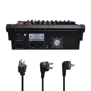 Image 3 - MINI8 P 8 ערוצים כוח ערבוב קונסולה עם מגבר Bluetooth להקליט 99 DSP אפקט מקצועי USB אודיו מיקסר