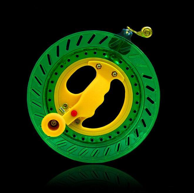 Envío gratis de alta calidad 20 cm 22 cm carrete grande cometa Anti revés juguetes al aire libre cometa volante rueda weifang cometa fábrica cometa bolsa