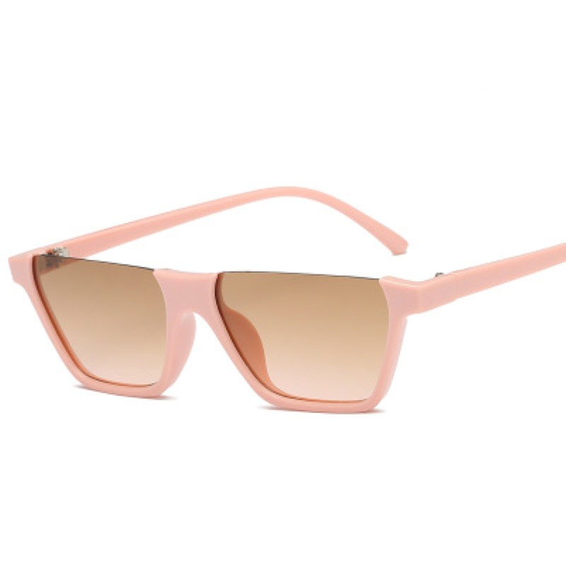 Cool Trendy Half Frame Rimless Cat Eye Sunglasses Women Fashion Clear Brand Designer Sun glasses For Female Oculos de sol in Women 39 s Sunglasses from Apparel Accessories