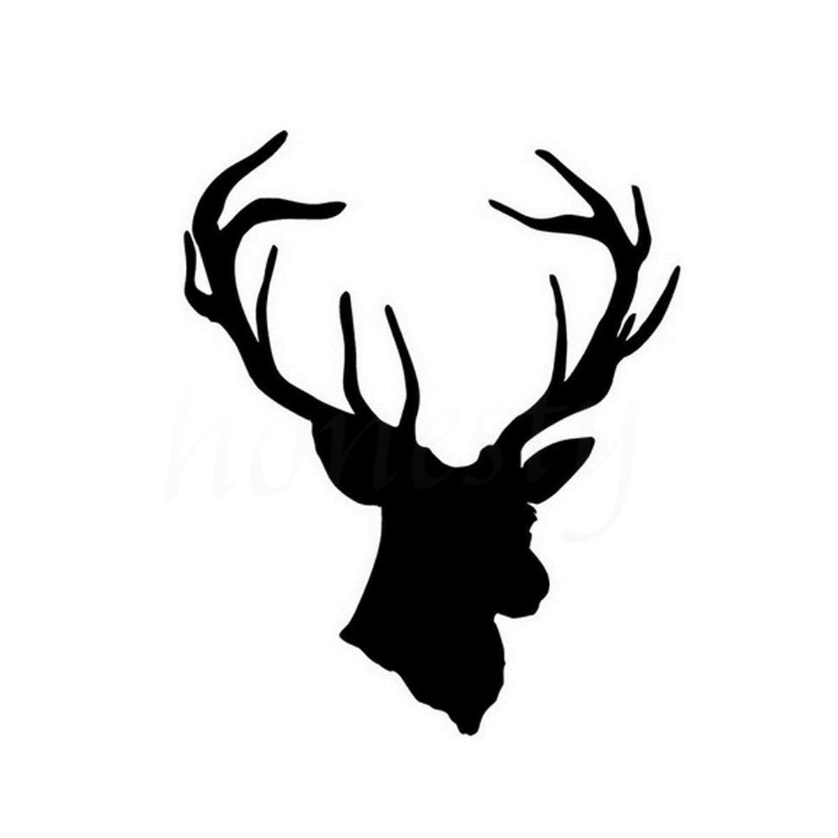 Cool Deer Head Hunting Car Sticker Wall Home Glass Window