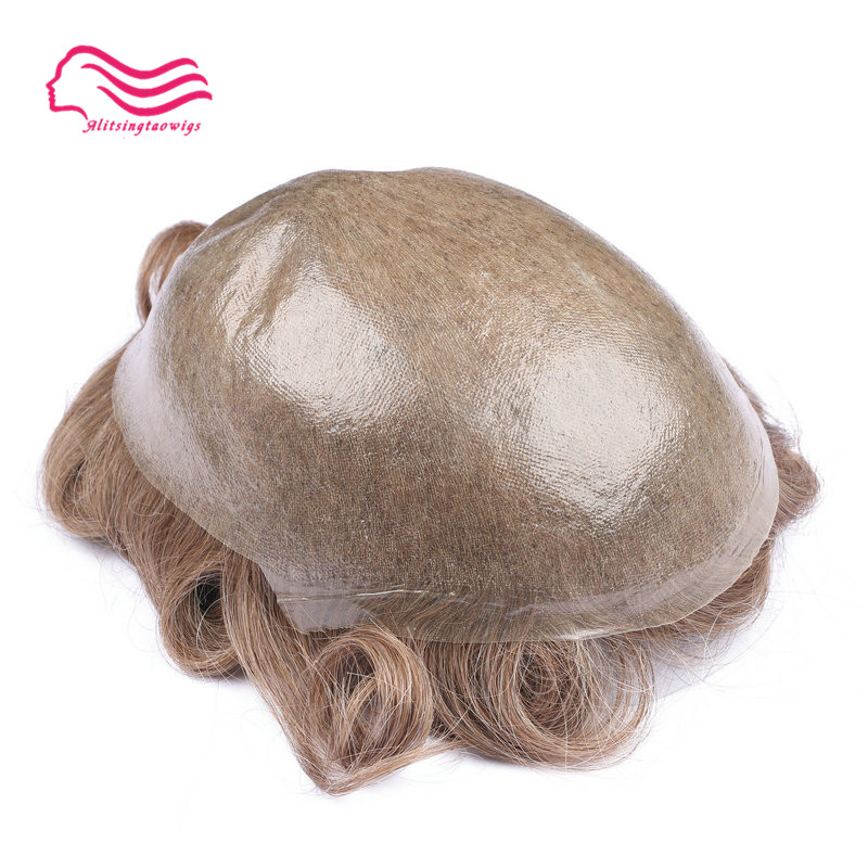 Tsingtaowigs, men toupee super thin skin0.02-0.04 mm Vlooped NG , hair replacemnt , hair pieces , men wig free shipping