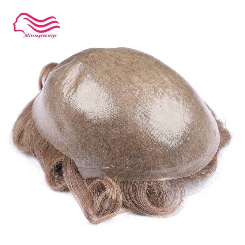 Tsingtaowigs, uomini toupee super sottile skin0.02-0.04mm Vlooped NG, capelli replacemnt, parti dei capelli, uomini parrucca spedizione gratuita