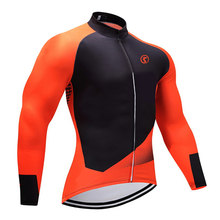 WINTER 2019 sobycle Oranje team pro wielertrui MTB Ropa Ciclismo mens vrouwen THERMISCHE FLEECE fietsen Maillot tops bike wear(China)