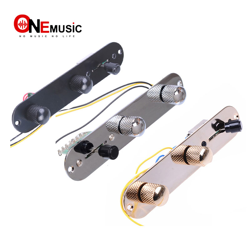 black or gold Import sized plate Loaded Telecaster 4 way control plate chrome
