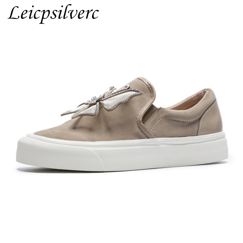 Bow Haute Qualité De Automne Plates Confortable Strass 2 Chaussures Femmes 3 Printemps Étudiants Jeune Sexy Mode 1 Suede Tie Femme Et w86zqapX