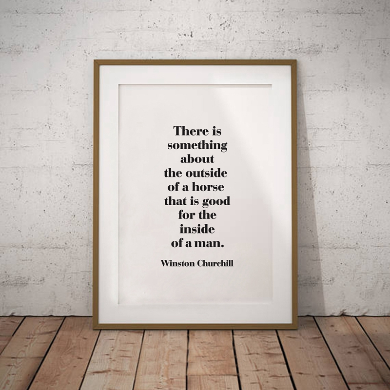 Black-and-White-Horse-Photography-Wall-Art-Canvas-Print-and-Poster-Cowboy-Horse-Quote-Canvas-Painting (2)