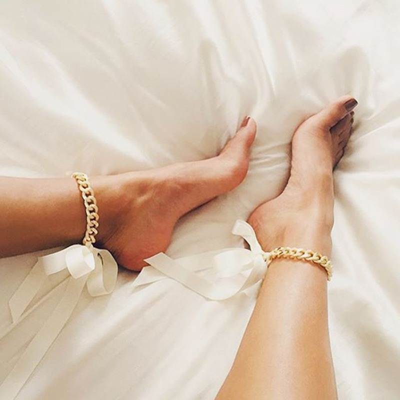 shiny chain selling big women foot jewelry chunky from accessories bangle anklet fashion for anklets chic gold bracelet in hot curb ankles on item ankle