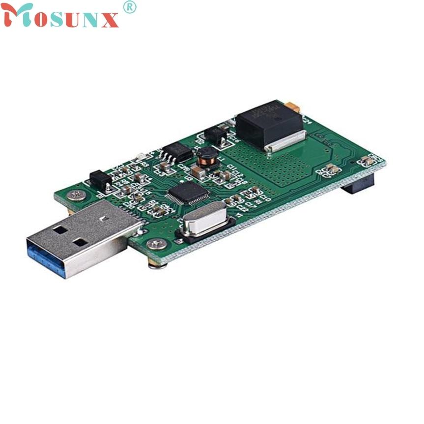 ecoisin2 Mini PCI-E mSATA To USB 3.0 External SSD Conveter Adapter Card 17mar20 2pcs cf mini pci e mini pci e adapter mini pci express cf card to mini pci e express adapter as ssd for eeepc 901 900a